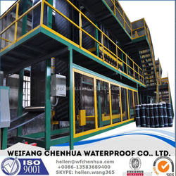 SBS modified asphalt mixing plant to produce bitumen membrane --- installation overseas