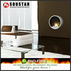 2017 indoor used wall mounted round glass fireplace bio ethanol