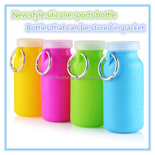 Candy colors Squeezit best collapsible fodable leakage-proof silicone sports water bottle