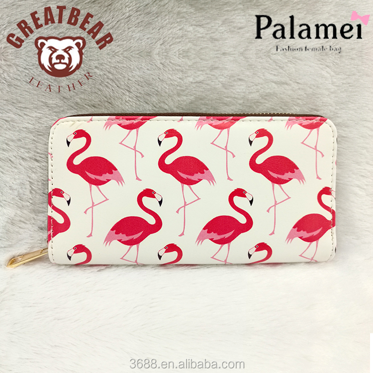 wholesale women wallet 2017 lady wallet Flamingo