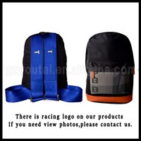 JDM Racing Backpack Fashion Backpack Bag,Canvas Harness Gift Backpack Brown Bottom Blue