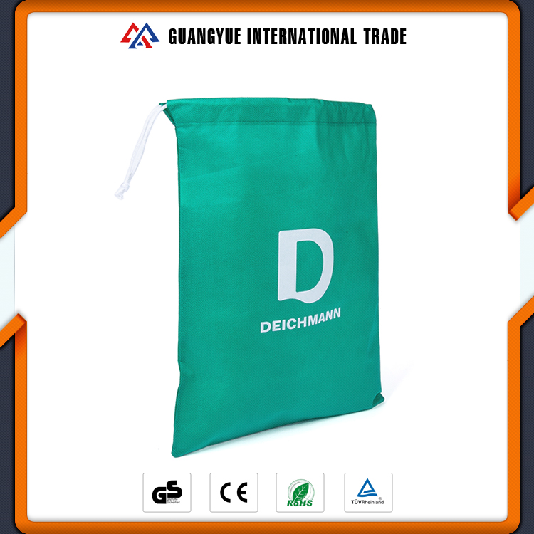 Guangyue Promotional Gift Custom Design PP Non Woven Drawstring Bags With Handle