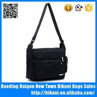 Brand name black color classic nylon men bag