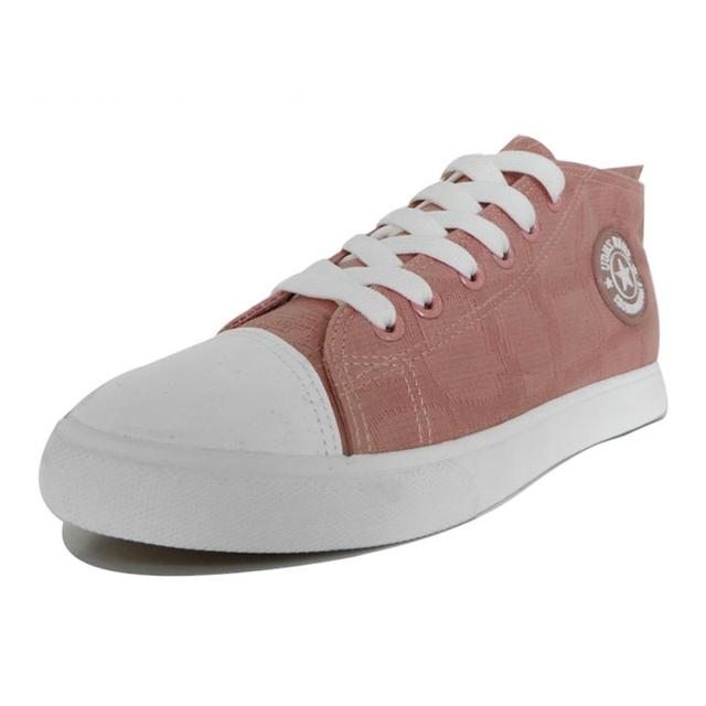 AIBIXI Oem Korea Sneaker Pink Lace-Up Women Casual Canvas Shoe