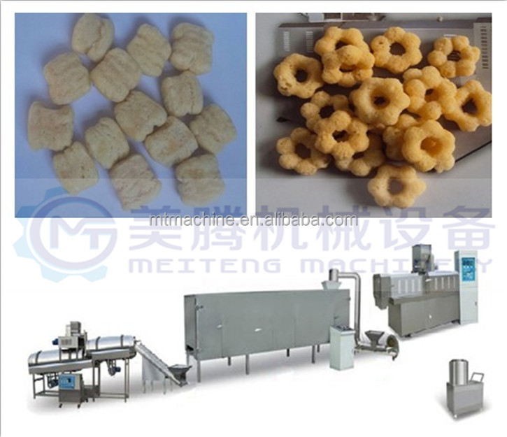 High quality cheap custom 150kg/h,250kg/h,600kg/h Corn Puff Snack Food Making Twin Screws Extruder
