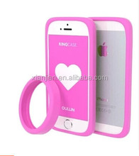 Hot 2015 drop-resistance hot mobile phone frame loops cover high quality silicone universal Cell phone case for iphone 5