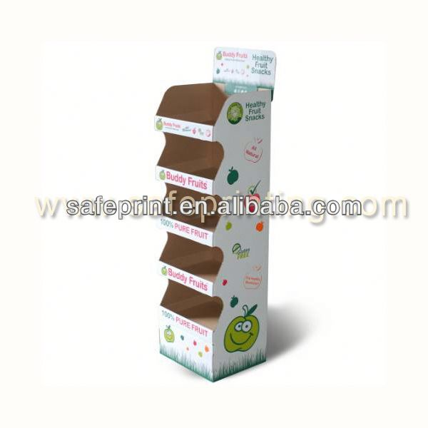 hot sale floor standing greeting card spray can display rack