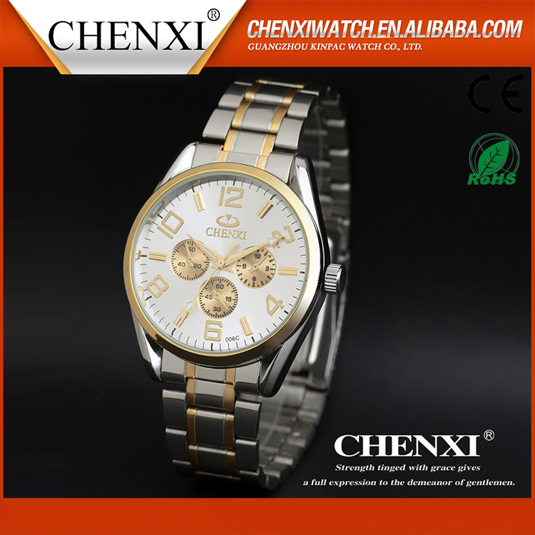 T006C6 2 Tone Color Gold Silver Wristwatches for Man Watch Business Men's Sport Military