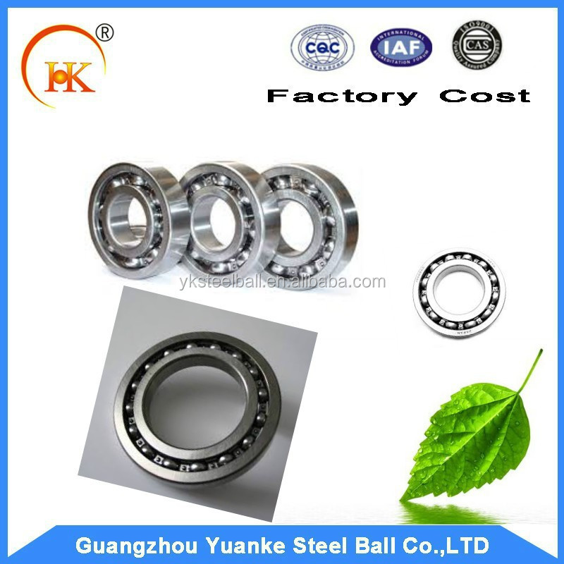 Standard size deep groove ball bearing for wheel pump/thrust ball bearing