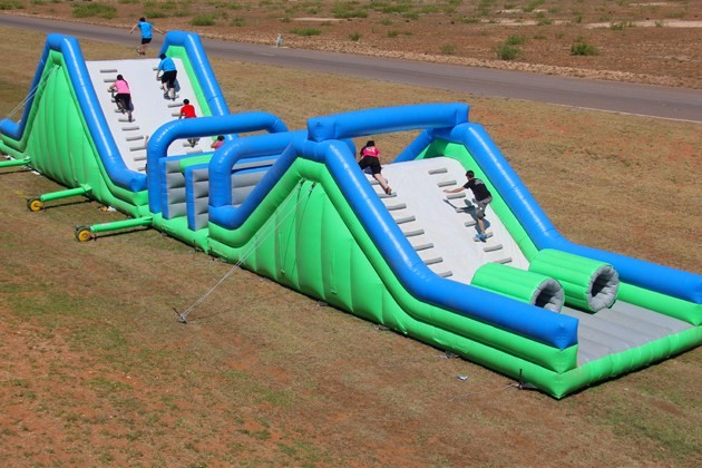 Giant Insane 5K Inflatable Sports Obstacle Course For Run
