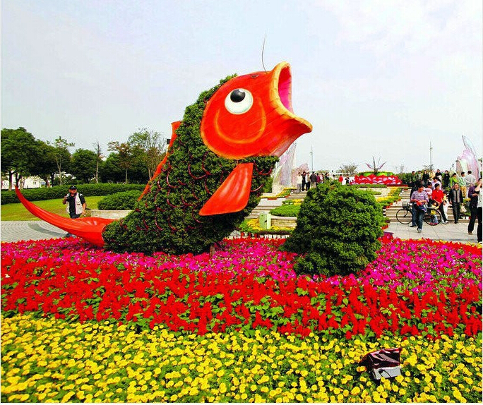wholesale new style artificial grass animals, customized size topiary animal mart, elephants peacock dog shape animals plants