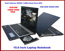 15.6 inch Notebook, Laptop brand new with Intel Atom Dual Core,4GB RAM, 500GB HDD, Webcam, WIFI, Bluetooth, 1080P HDMI