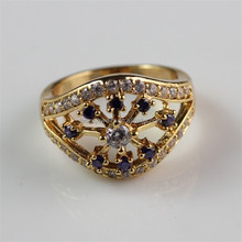 Stunning Nice Fashion New Design Cheap Wholesale Purple Zircon 18K Gold Filled Ring for Women