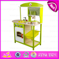 Best selling toys 2015 kitchen play set,New Design top quality kids wooden kitchen toy,Funny children play kitchen set W10C143A