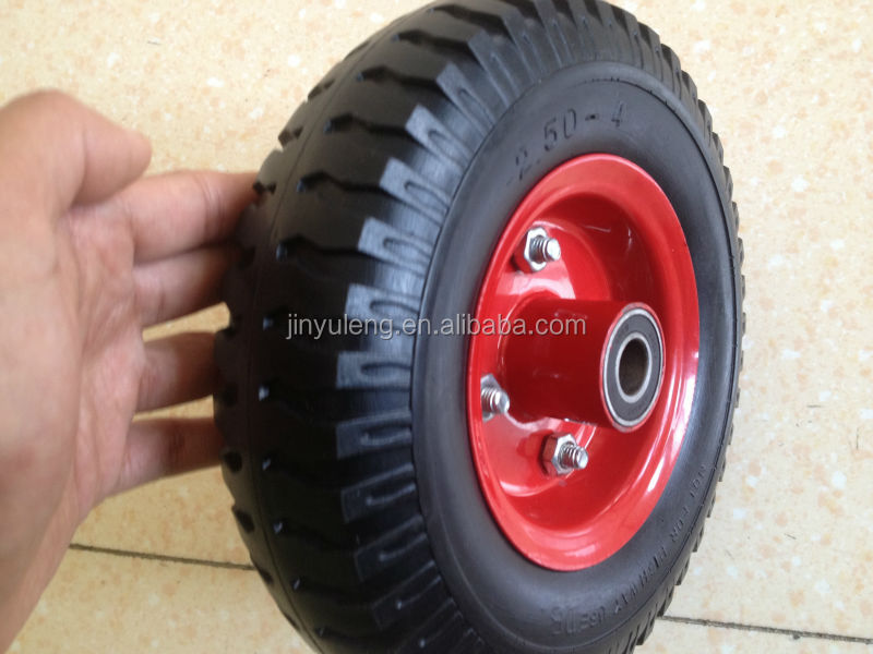 10 inch 4.10/3.50-4 plastic rim Pneumatic air rubber wheel for toy car hand trolley truck castor yacht trailer wagon tool cart