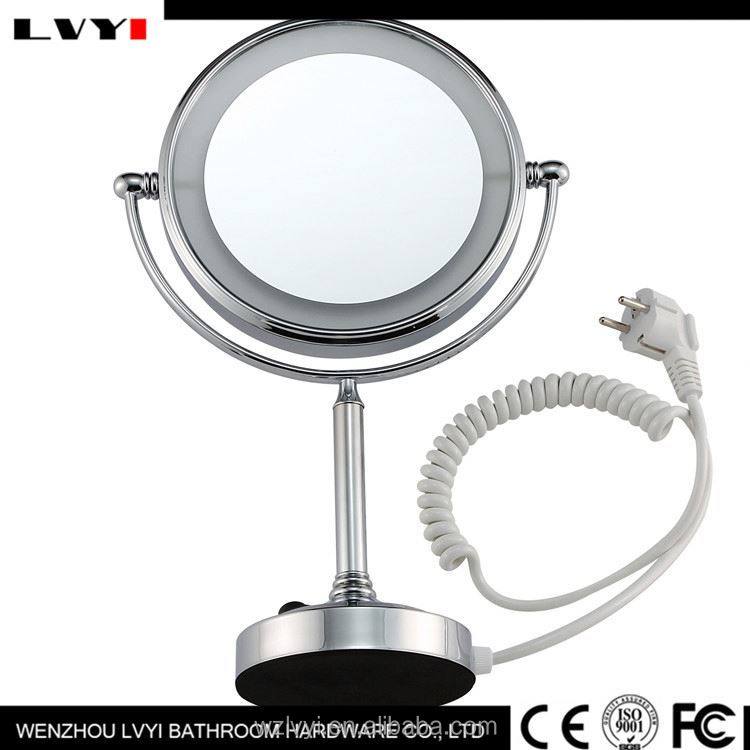 New arrival style unique framed mirrors latest silver led mirror with cute designs