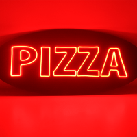 pizza neon signs led