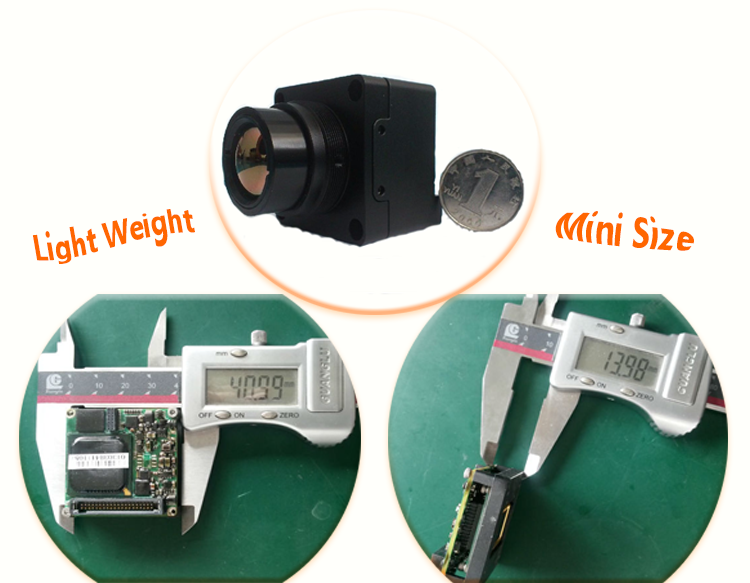 Mini size day and night vision thermal imaging cctv camera module M500 with 640x480 resolution