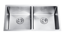 "American standard 3219 / 32""X19"" 50/50 hand made undermount stainless steel sink double bowl kitchen sink"