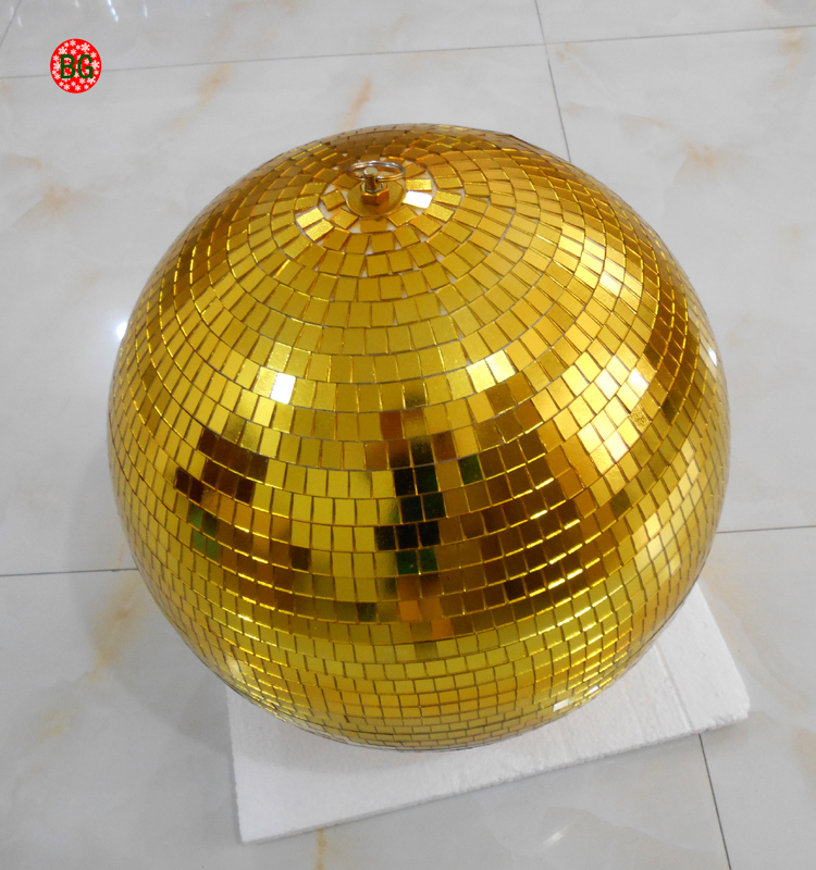 Christmas decorations giant gold disco mirror balls with reflecter