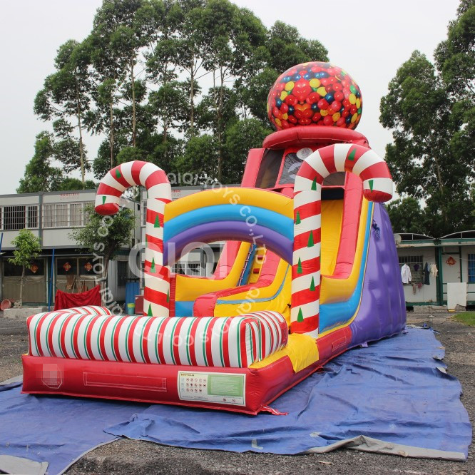 candy giant inflatable candy slides for kids
