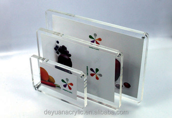 Latest magnet acrylic plastic photo frame