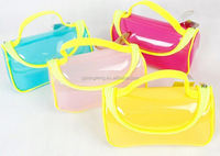 pvc bag/ environmental pvc bag with slider/ pvc laminated cotton cosmetic bag