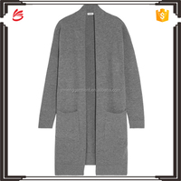 Custom wool and cashmere blend cardigan without buttons