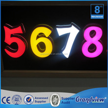 Stainless steel side Brand logo sign light letter box led sign 3d chrome letters