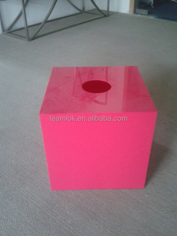 Red Acrylic Lucky Draw Box