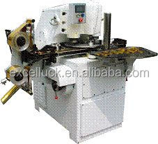 Coin chocolate foil wrapping machine