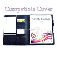 cheap soft leather cover executive dairy spiral custom, leather planner journal personalized
