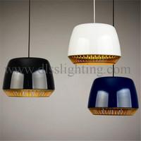 Creative modern aluminum white drum pendant lamps coffee shop/restaurant lighting