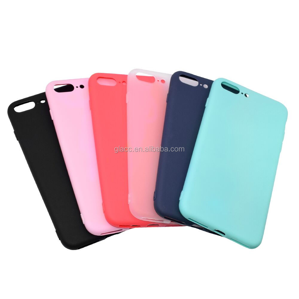 High Quality TPU Matte Finished Gel Soft Skin Cover Shockproof Mobile Phone Case for Iphone 7 plus