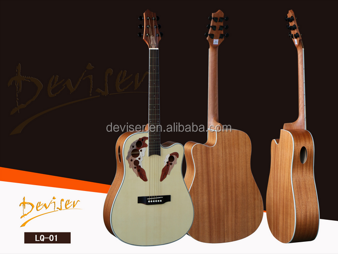 Top Selling Handmade High End Spruce Electric Acoustic Guitar