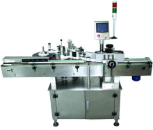 Automatic double side bottle labeling machine with self-adhesive