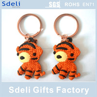 Fashion cute lovely soft pvc keyring, cheap custom cartoon soft rubber keychain