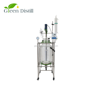 100l chemical jacketed glass reactor prices