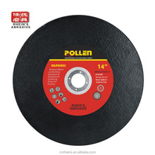 China abrasive tools 14 Inch 355MM resin abrasive metal inox cutting wheel
