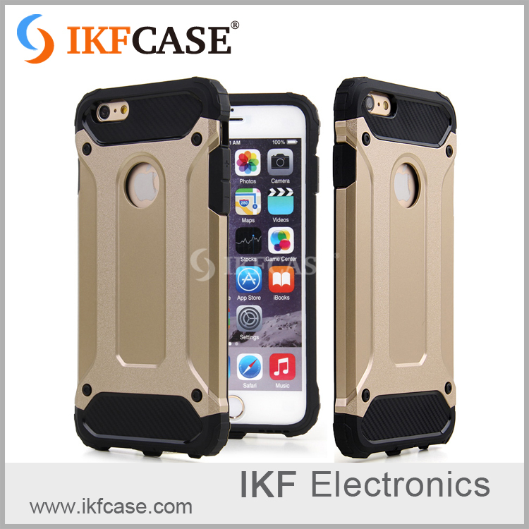 Wholesale price and high quality tpu+pc dual layer hybrid hard armor phone cases for Iphone 6 Plus