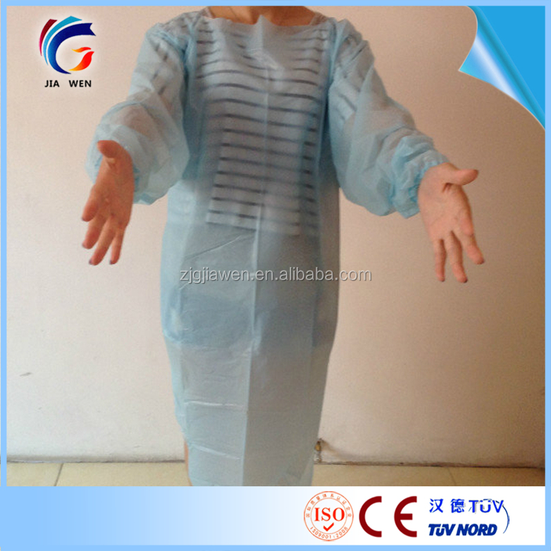 CPE disposable Isolation clothes/surgical gown surgical drapes gowns biodegradable medical gowns