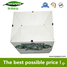 Recycled Packaging Waxed Corrugated Carton Box for Lettuce Packing