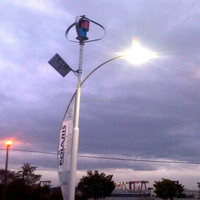 Small Vertical Axis Wind Turbine for LED street Light