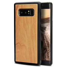 cherry wood blank phone case for samsung note 8 wooden case