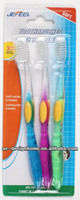 3 PCS PLASTIC TOOTHBRUSH SET