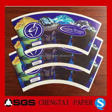 CHENGTAI paper food sleeve with offset /flexo printing for in any size