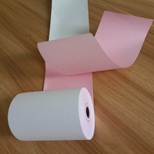 Cheap high quality Carbonless copy paper 2ply NCR paper roll