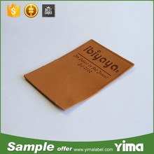 China latest Custom leather clothing label and Imitation leather clothing label