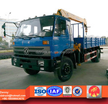 Dongfeng 10ton dump truck with crane for sale