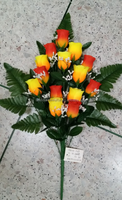 Funeral Artificial flowers ,Roses, lily flowers, chrysanthemum flowers bouquets